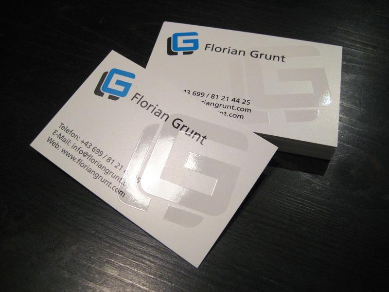 Personal business cards - Work - Florian Grunt