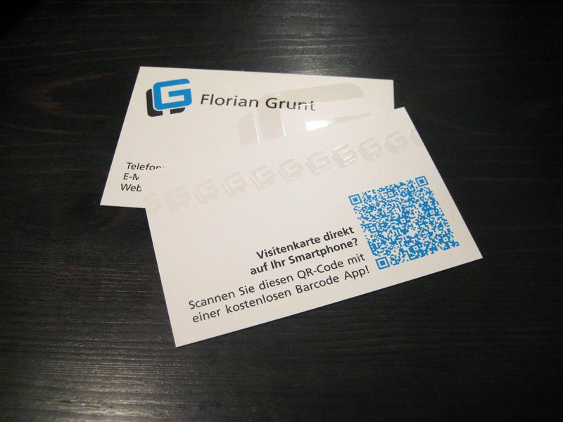 Personal business cards - Work - Florian Grunt